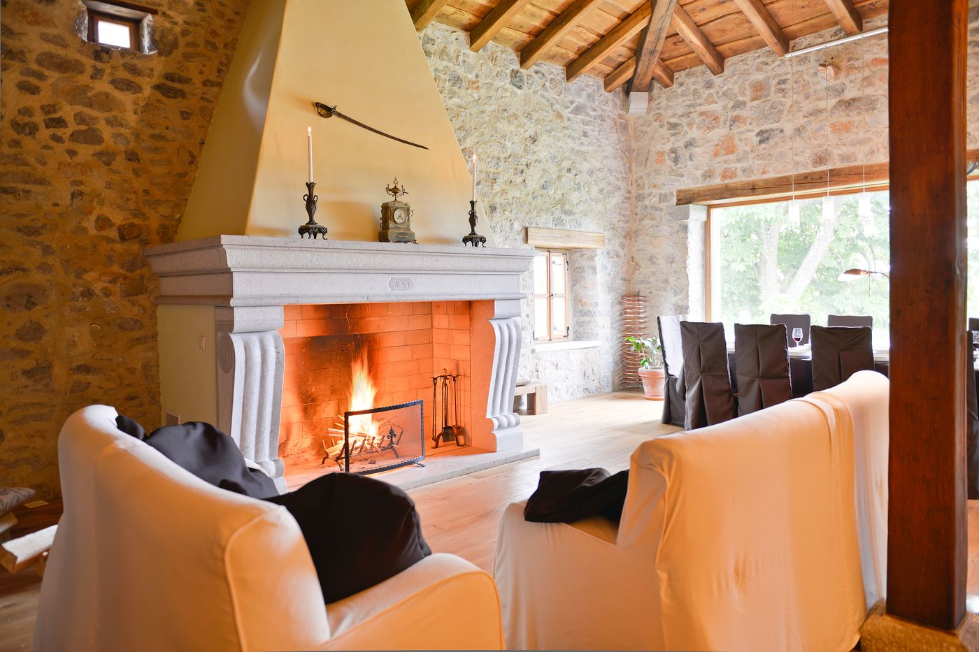 Fireplace Royal Suite Asa Residence Private Villa Slovenia