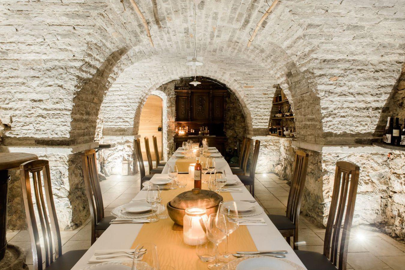 Wine Cellar Private Dining Asa Residence Private Villa Kras Slovenia