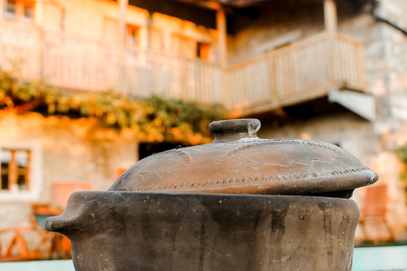 Traditional food preparation Asa Residence Private Villa Kras Slovenia
