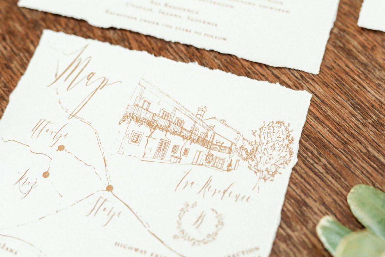 Wedding invitations ASA Residence Private Wedding Villa Kras Slovenia