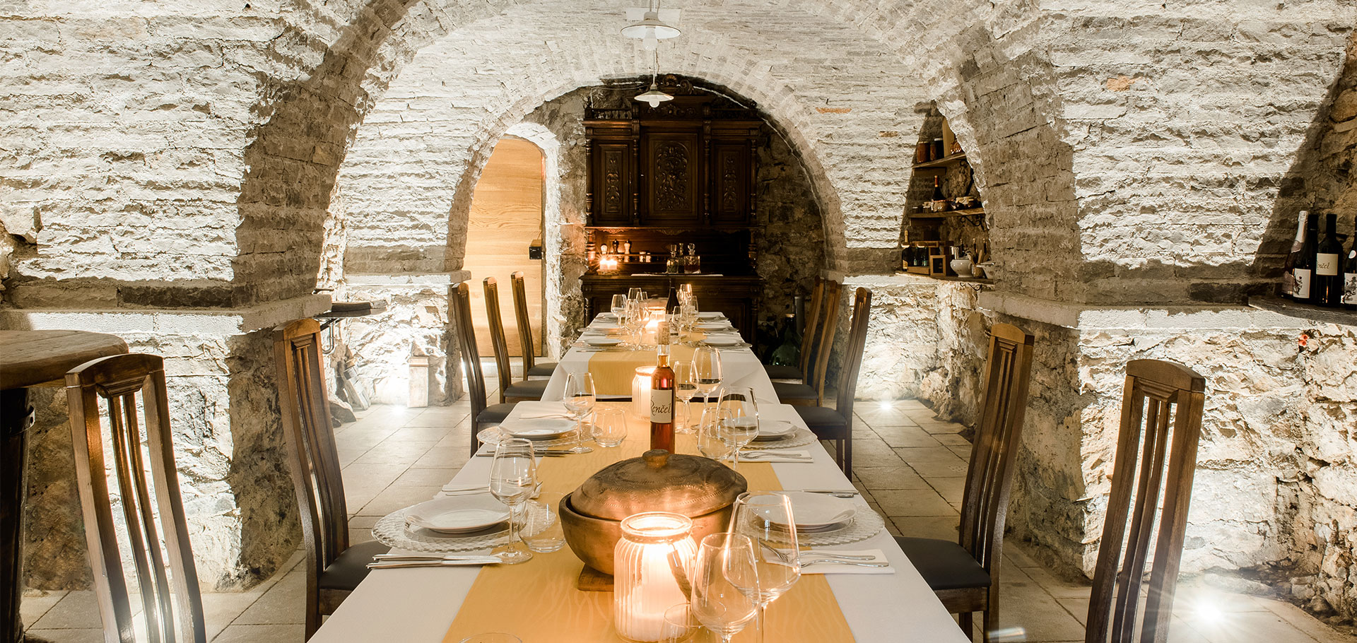 Wine Cellar Private Dining Asa Residence Private Villa Kras Slovenia
